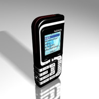nokia 7260 cell phone 3d model