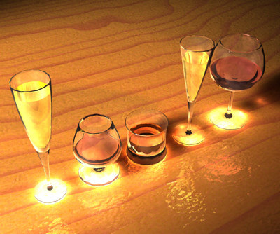 glasses alcohol 3ds
