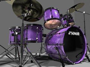 3d drumset sonor designer