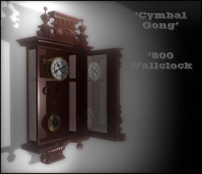 800 wall clock 3d model