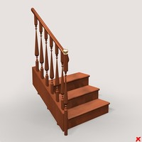 3d model stairs staircase