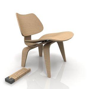 herman miller eames lounge 3d model