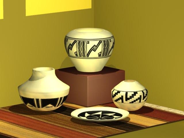 3d max pueblo pottery
