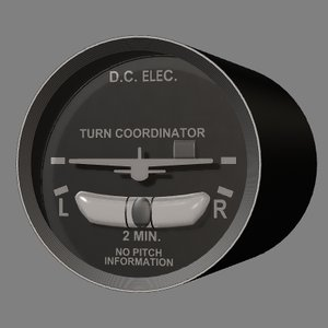 tc turn coordinator instrument 3d lwo