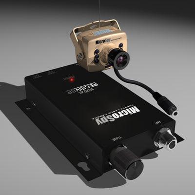 3d micro camera model