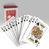 3D Deck of Cards Model