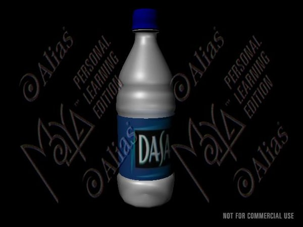 free ma model dasani water bottle