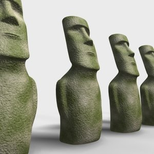 moai sculpture 3d max