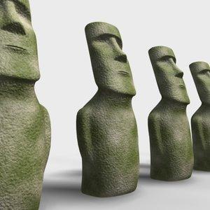 moai sculpture 3d max