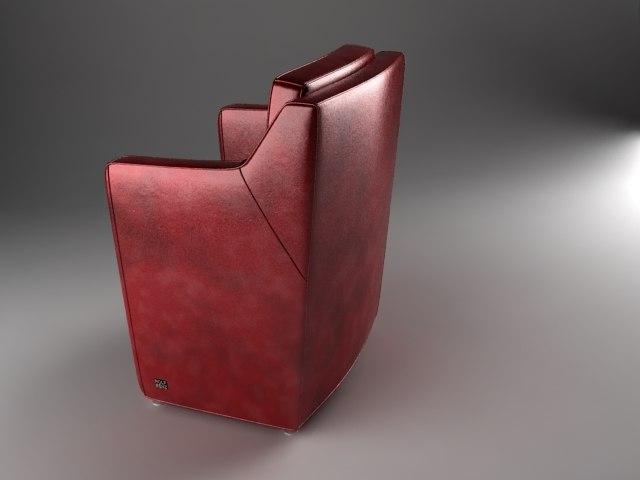3d max armchair 7100 rolf benz