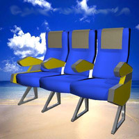 3ds max airline seats
