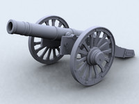 3d model revolutionary war cannon