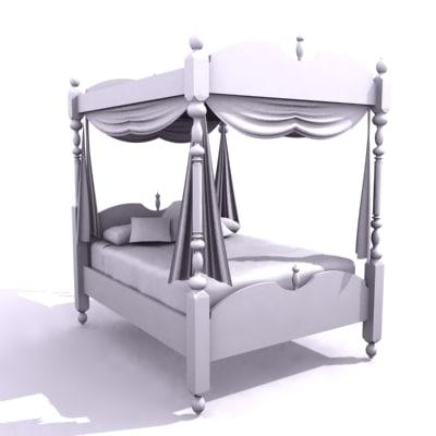 3d 4 post bed model