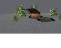 free garden 3d model