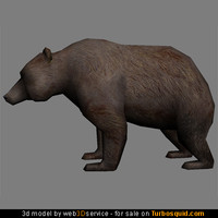 3d 3ds bear 814 triangles