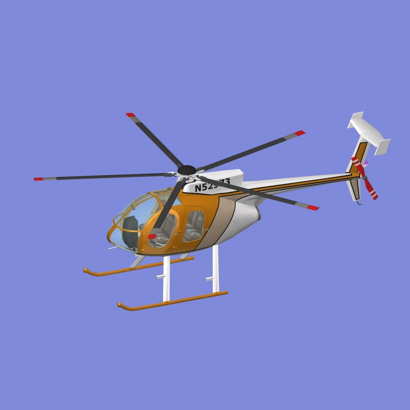 md-500e helicopter 3d model