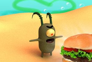 free plankton spongebob 3d model