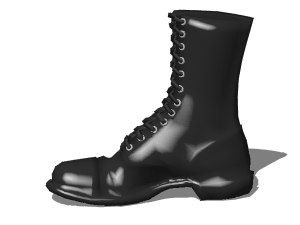 army boot 3d model