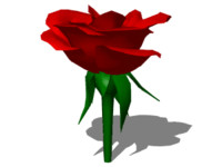 red rose 3d 3ds