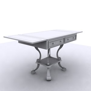 3d louis 14 writing desk