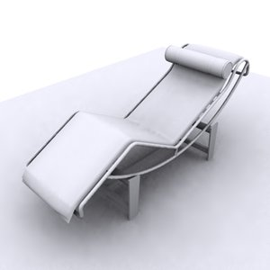 corbusier recliner modern chair 3d model