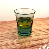 Small Glass with absinthe