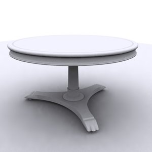 3ds antique tea table