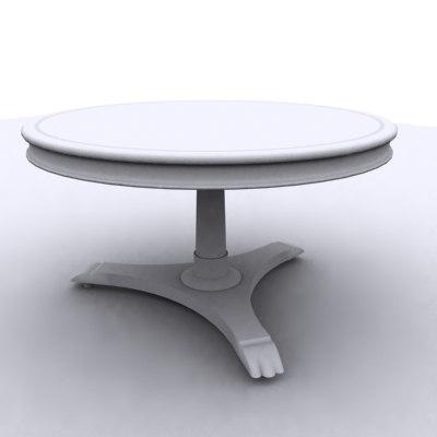 3ds antique tea table