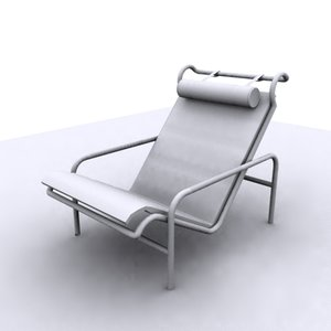 modern tube chair 3ds