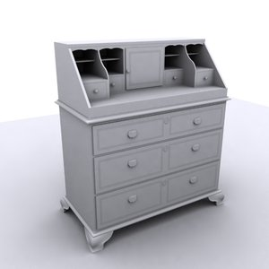 3ds max antique writing desk