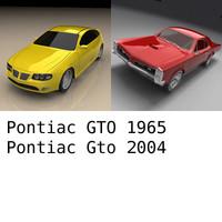pontiac gto 1965 2004 3d model