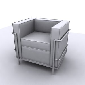 3d modern club chair model