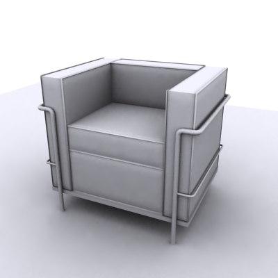 3d modern club chair model
