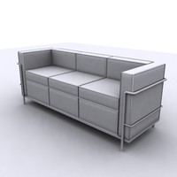 3ds max modern corbusier couch
