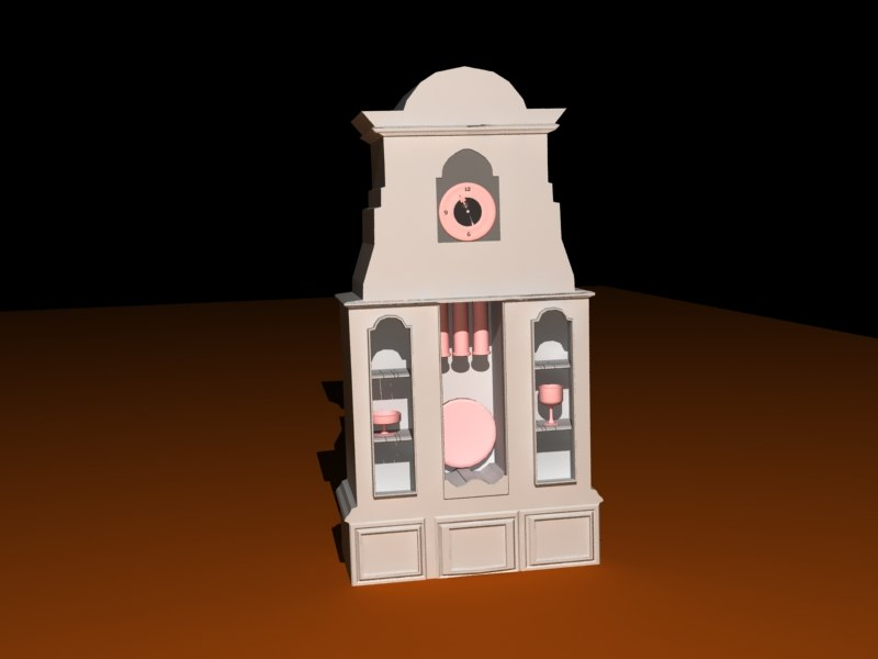 old cabinetclock 3d 3ds