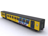 sprinter carriage ns train 3d model