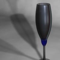 3d champaign flute