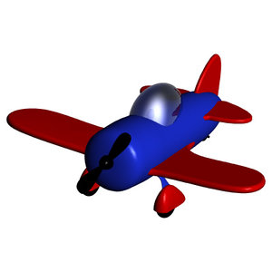 free toy airplane 3d model