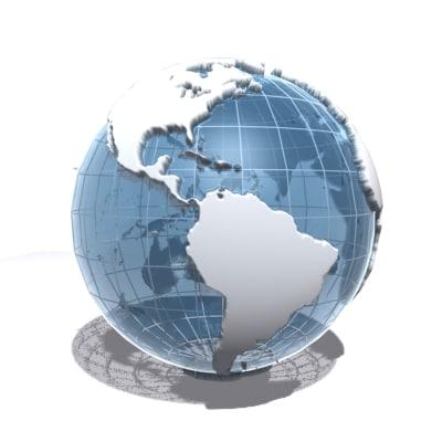 world planet 3d model