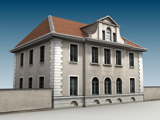 old style house 3d max