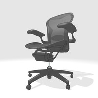 3d aeron chair model