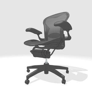 3d aeron chair model