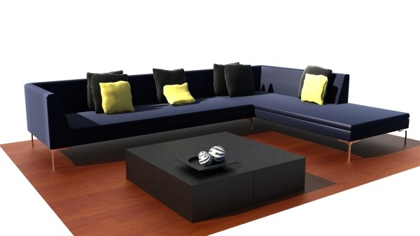 minotti couch 3d model