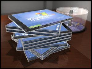 3d model spindle cd case