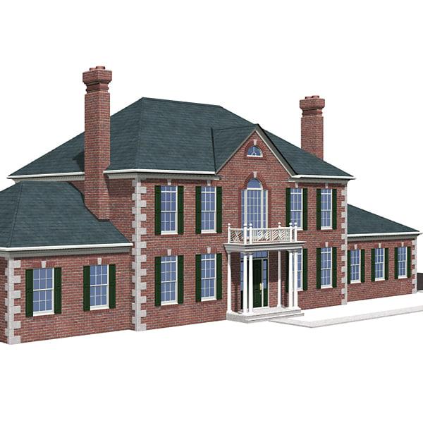 3d exterior upscale house