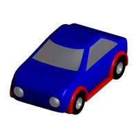 free toy race car 3d model