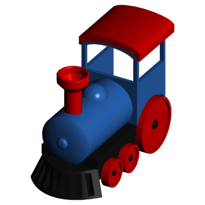 free 3ds model toy train