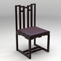 mackintosh chair 3d lwo