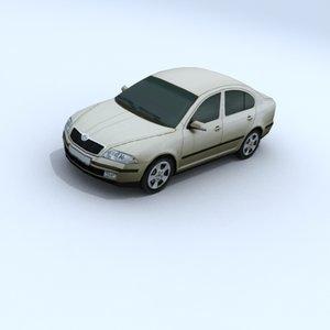 skoda octavia vehicle car 3d 3ds