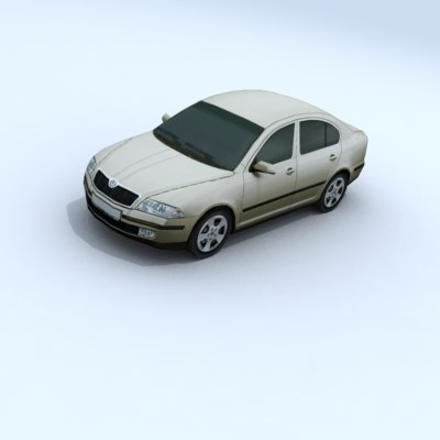 skoda octavia vehicle car 3d 3ds